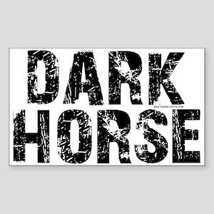 Dark Horse. Attitude Rectangle Sticker