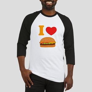 I Love Cheeseburgers Baseball Jersey