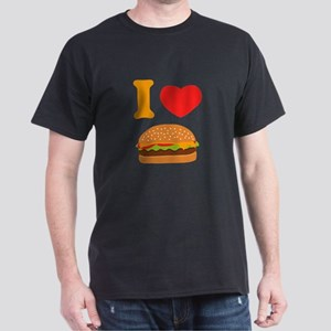 I Love Cheeseburgers Dark T-Shirt