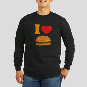 I Love Cheeseburgers Long Sleeve Dark T-Shirt