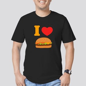 I Love Cheeseburgers Men's Fitted T-Shirt (dark)