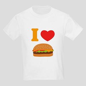 I Love Cheeseburgers Kids Light T-Shirt