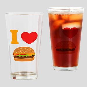 I Love Cheeseburgers Drinking Glass