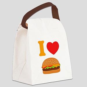 I Love Cheeseburgers Canvas Lunch Bag