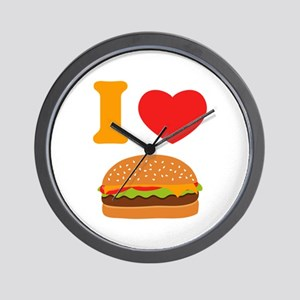I Love Cheeseburgers Wall Clock