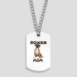 Boxer Mom Dog Tags