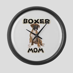 Boxer Mom Large Wall Clock