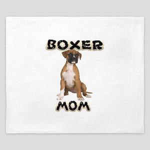 Boxer Mom King Duvet