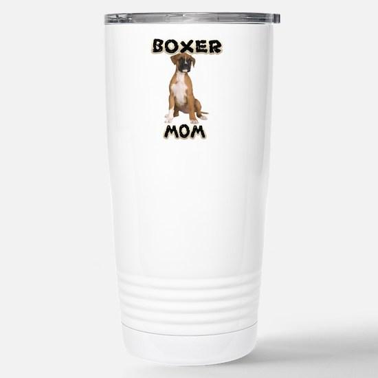 Boxer Mom Stainless Steel Travel Mug