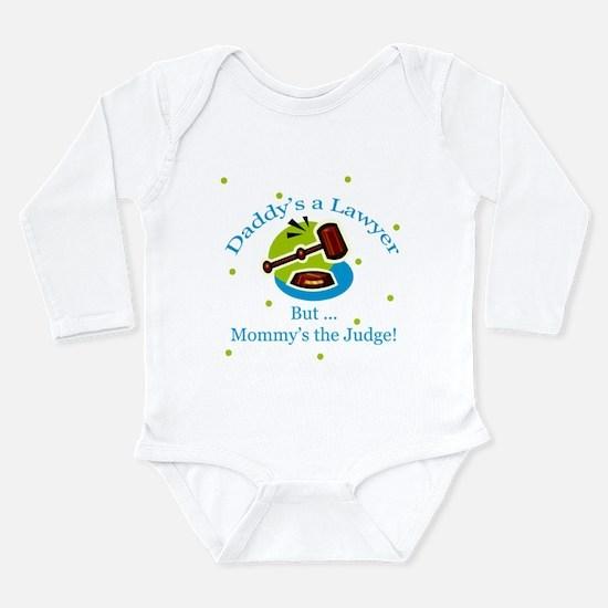 Cute Lawyer Long Sleeve Infant Bodysuit