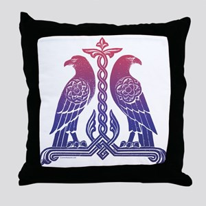 Armenian Birds Throw Pillow