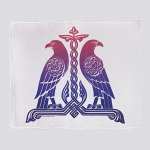 Armenian Birds Throw Blanket