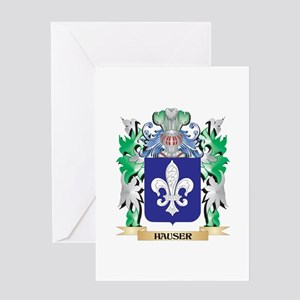 Hauser Coat of Arms (Family Crest) Greeting Cards