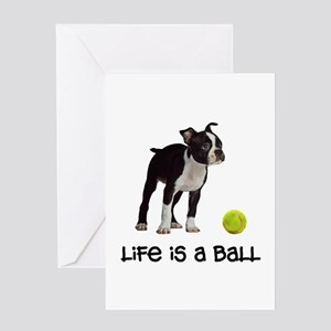 Boston Terrier Life Greeting Cards