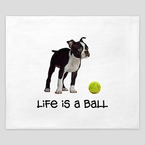 Boston Terrier Life King Duvet