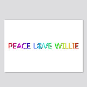 Peace Love Willie Postcards 8 Pack