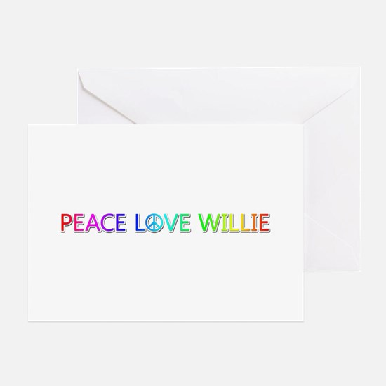 Peace Love Willie Greeting Card