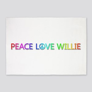 Peace Love Willie 5'x7' Area Rug
