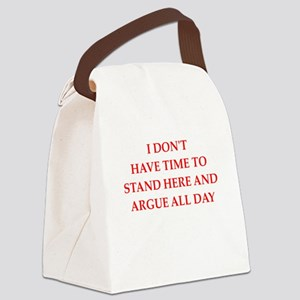 argue Canvas Lunch Bag