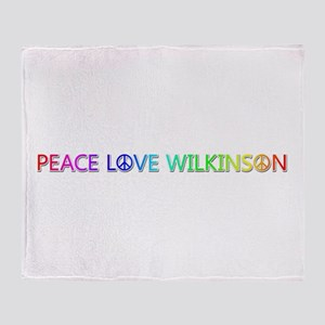 Peace Love Wilkinson Throw Blanket
