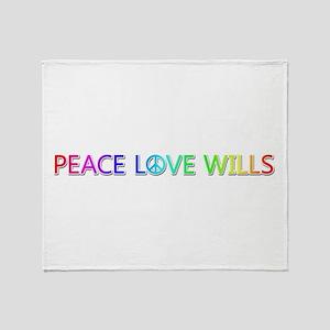 Peace Love Wills Throw Blanket