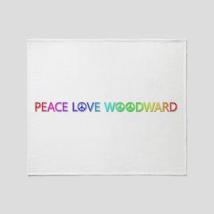 Peace Love Woodward Throw Blanket
