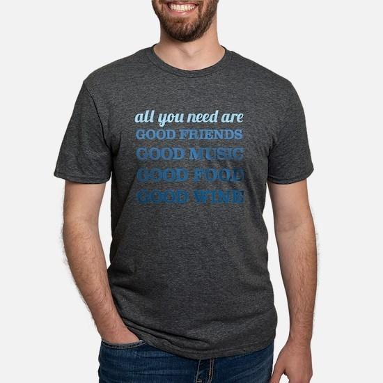 Good Friends Food Wine T-Shirt
