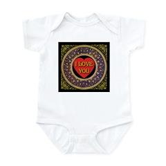 I Love You Golden Midnight Infant Bodysuit