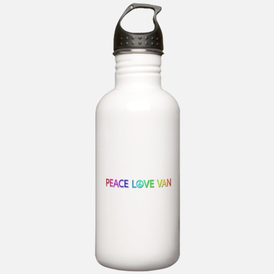 Peace Love Van Water Bottle
