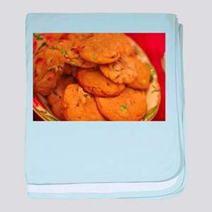 cookies with candy chips baby blanket