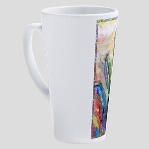Cactus, southwest art! 17 oz Latte Mug