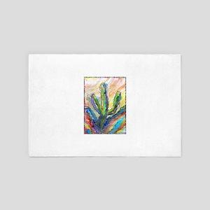 Cactus, southwest art! 4' x 6' Rug
