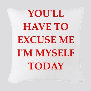 excuse Woven Throw Pillow
