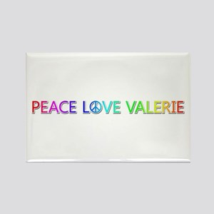 Peace Love Valerie Rectangle Magnet