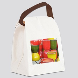 group of colorful pots Canvas Lunch Bag
