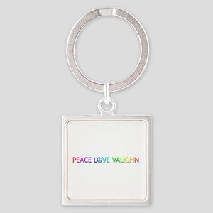 Peace Love Vaughn Square Keychain