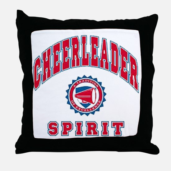Cheerleader Spirit Throw Pillow