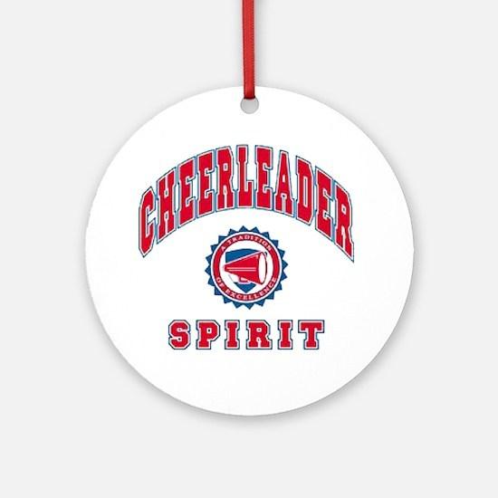 Cheerleader Spirit Ornament (Round)
