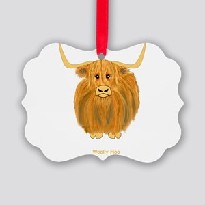 Woolly Moo Ornament