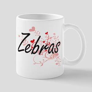Zebras Heart Design Mugs