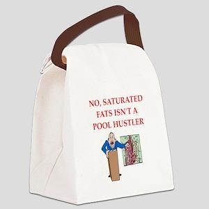med school joke Canvas Lunch Bag