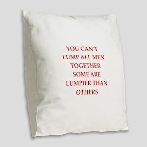 men Burlap Throw Pillow