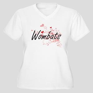 Wombats Heart Design Plus Size T-Shirt