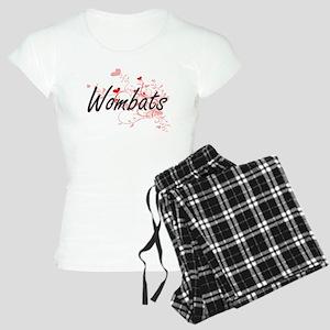 Wombats Heart Design Women's Light Pajamas