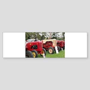Vintage tractors in a line Bumper Sticker