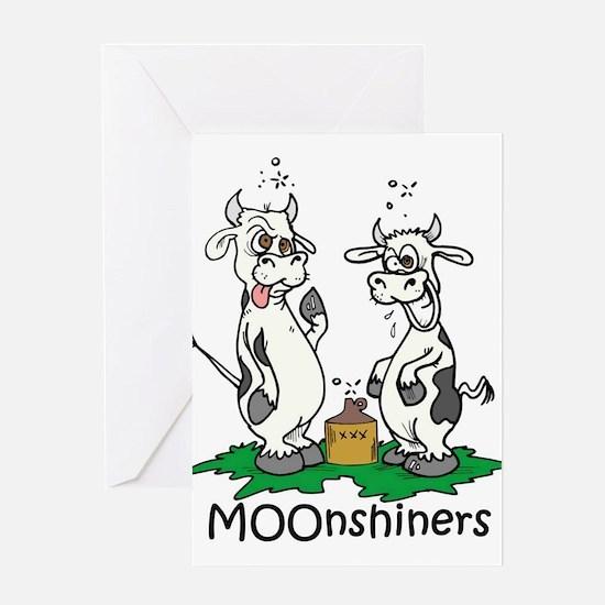 moonshine cows.jpg Greeting Cards