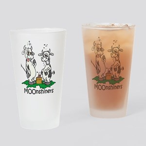 moonshine cows Drinking Glass