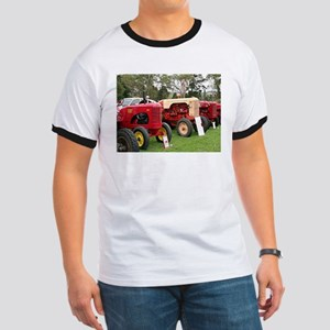 Vintage tractors in a line T-Shirt