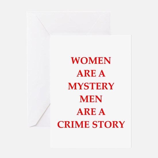women and men Greeting Cards
