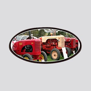 Vintage tractors in a line Patch